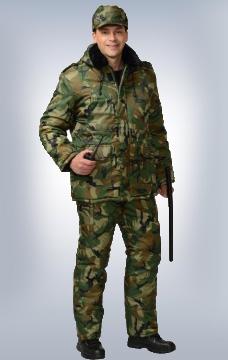 Костюм Охранник утеплённый КМФ Лес
