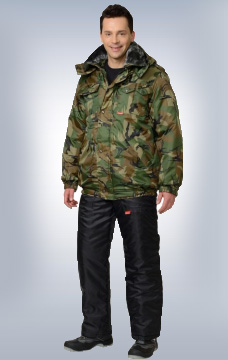 Куртка Полюс утеплённая КМФ Лес