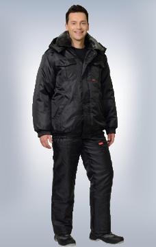 Куртка Полюс утеплённая чёрная