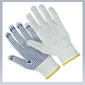 Перчатки ХБ с ПВХ (7,5 класс) Точка