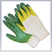 Перчатки ХБ с 2-мы латексным покрытием ЛЮКС