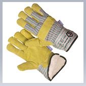 Перчатки комбинированные спилковые Ангара зимние