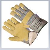 Перчатки комбинированные спилковые Хватка зимние