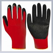 Перчатки нейлоновые с латксным покрытием
