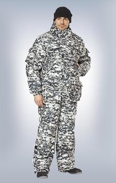 Костюм Акватика утеплённый КМФ серый пиксель